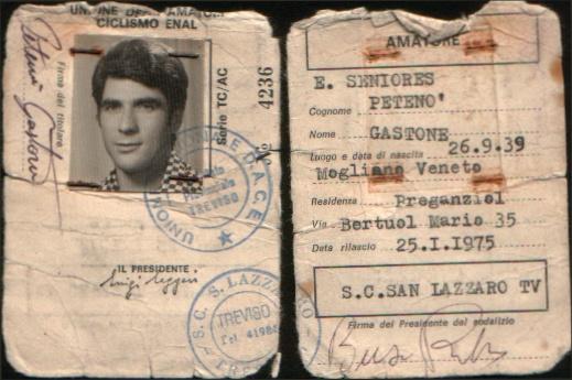 pag 12 Gastone Petenò tessera 1975